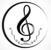 Musik-Anmerkung Backgraund Lizenzfreies Stockbild