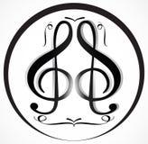 Musik-Anmerkung Backgraund Lizenzfreies Stockfoto