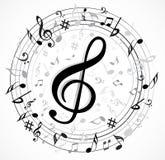 Musik-Anmerkung Backgraund Lizenzfreie Stockbilder