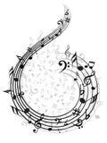 Musik-Anmerkung Backgraund Lizenzfreie Stockfotografie