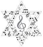 Musik-Anmerkung mit Symbolen Stockfoto