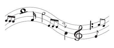 Musik-Anmerkung mit Symbolen Stockbild
