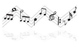Musik-Anmerkung mit Symbolen Stockfotos