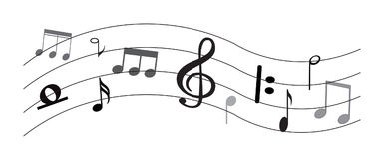 Musik-Anmerkung mit Symbolen Lizenzfreies Stockfoto