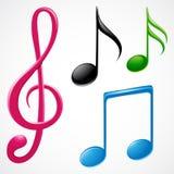 Musik-Anmerkungen Stockbilder