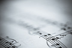 Musik-Anmerkungen Stockfoto
