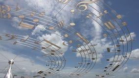 Musik-Anmerkungen Lizenzfreie Stockfotografie