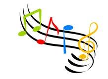 Musik-Anmerkungen stock abbildung
