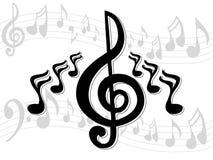 Musik-Anmerkungen Stockbild