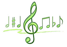 Musik-Anmerkungs-Collage Lizenzfreies Stockfoto