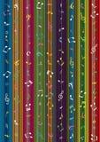 Musik-Anmerkungs-Streifen-Trennvorhang-Hintergrund Stockfoto