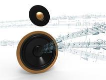 Musik auf Lautsprecher Stockbilder