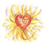 Musik av hjärtan Royaltyfri Fotografi