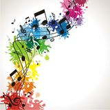 Musik background with notes Stock Photo