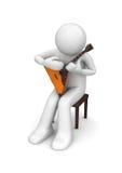 Musik - Balalaikaausführender Lizenzfreies Stockbild