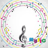 Musik beachtet Hintergrund Stockbild