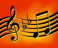 Musik beachtet Hintergrund Stockfotos