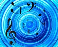 Musik beachtet Hintergrund Lizenzfreie Abbildung