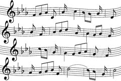Musik beachtet Hintergrund Stockfoto