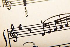 musik bemärker gammalt Royaltyfria Bilder