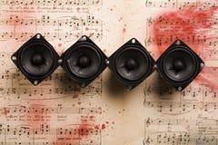 musik bemärker högtalare Arkivfoto