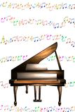 musik bemärker pianot Arkivfoton