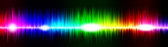 Musik bewegt Titel wellenartig Stockfotografie
