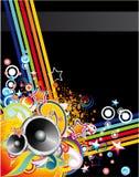 Musik-bunter abstrakter Hintergrund Lizenzfreie Stockfotografie