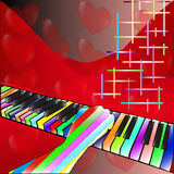 Musik der Liebe Stockfotografie
