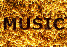 Musik des Feuers Lizenzfreies Stockbild