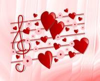 Musik des Valentinsgrußes Lizenzfreie Stockbilder