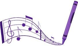 Musik, die aus einem Zeichenstift heraus - Vektor Illustratio fließt Lizenzfreies Stockbild
