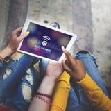 Musik, die Medien-Unterhaltungs-Download-Entzerrer-Konzept strömt stockfotografie
