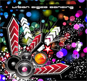 Musik-Disco-Ereignis-Hintergrund Lizenzfreie Stockbilder