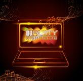 Musik dj festar tema Royaltyfria Bilder