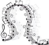 Musik. Dreifacher Clef und Anmerkungen für Ihre Auslegung. Lizenzfreie Stockbilder