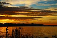 Musik durch Sonnenuntergang 5 Stockfoto