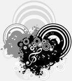 Musik - ein geometrischer abstrakter Hintergrund Stockfotografie