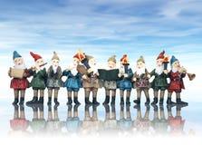 Musik-Elfe am Weihnachten Lizenzfreie Stockfotos