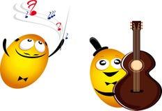 Musik Emoticons Lizenzfreie Stockbilder