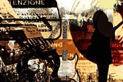 Musik en ciudad Foto de archivo