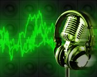 Musik-Energie (+clipping Pfad, XXL) Lizenzfreies Stockbild