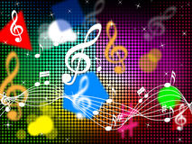 Musik färbt Hintergrund-Show-Blau klassisch oder Pop Stockfoto