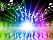 Musik färgar att sjunga och musikal för bakgrundshjälpmedelsånger royaltyfri illustrationer