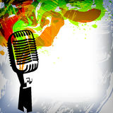 musik för bakgrundsbegreppsmikrofon vektor illustrationer