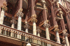 musik för barcelona catalanakorridor arkivfoto