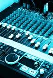musik för blandare för dj-utjämnarediagram Royaltyfria Bilder