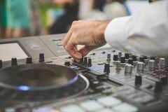 Musik för discjockeypartiteknologier Arkivfoton