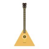 Musik för fiol och för medborgare för folk musikaliskt symbol för melodi för gitarr för vektorinstrumentbalalajka akustisk solid  royaltyfri illustrationer