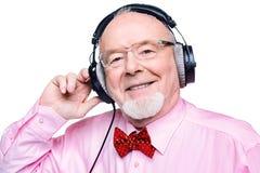Musik för gamla människor royaltyfri bild